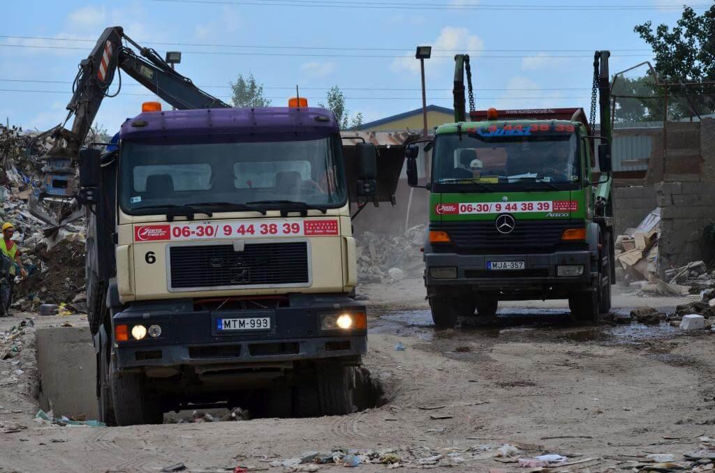 hungarocell hulladék elszállítása XIX. kerület Derkovics Gyula utca